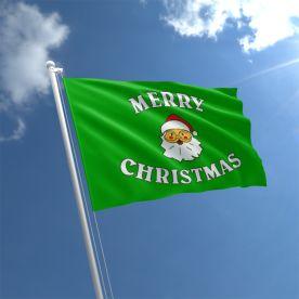 Green Christmas Flag