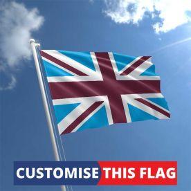 Custom Claret & Blue Union Jack Flag