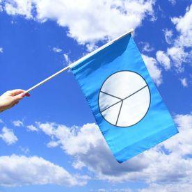 CND Hand Waving Flag