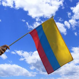 Colombia Hand Waving Flag