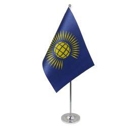 Commonwealth table flag satin