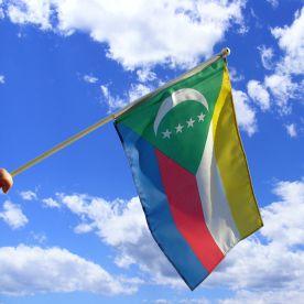 Comoros Hand Waving Flag
