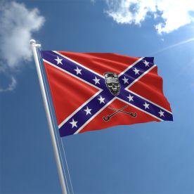 Rebel Skull Flag