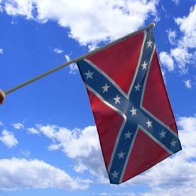 Confederate Hand Waving Flag