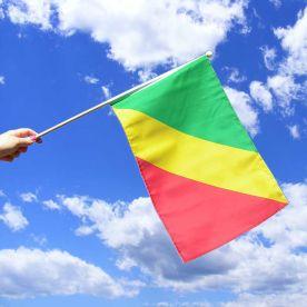 Congo Brazzaville Hand Waving Flag