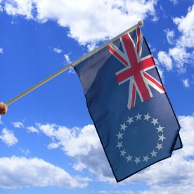 Cook Islands Hand Waving Flag
