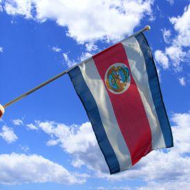 Costa Rica Hand Waving Flag