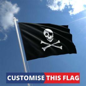 Custom Skull & Crossbones Flag