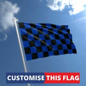 Custom Black & Blue Chequered Flag