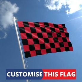 Custom Black & Red Chequered Flag