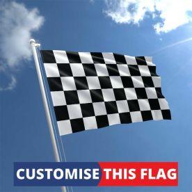 Custom Black & White Chequered Flag