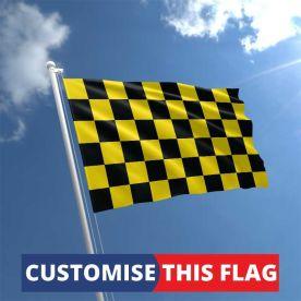 Custom Black & Yellow Chequered Flag