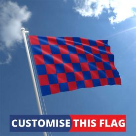 Custom Blue & Red Chequered Flag