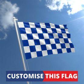 Custom Blue & White Chequered Flag