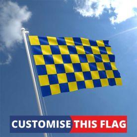 Custom Blue & Yellow Chequered Flag