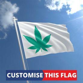 Custom Canabis Leaf Flag