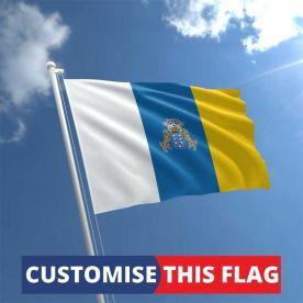 Custom Canary Islands Flag