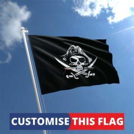 Custom Crossed Sabres Pirate Flag