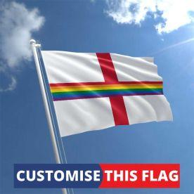 Custom England Rainbow Flag