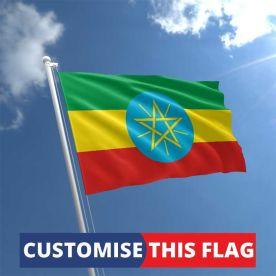 Custom Ethiopia flag