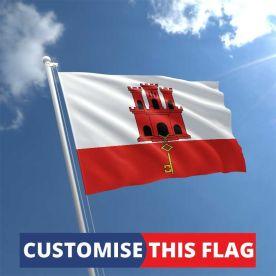 Custom Gibraltar Flag