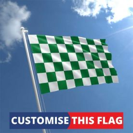 Custom Green & White Chequered Flag