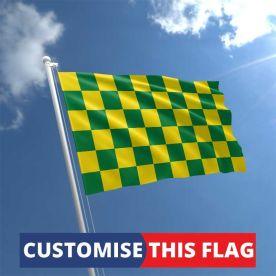 Custom Green & Yellow Chequered Flag