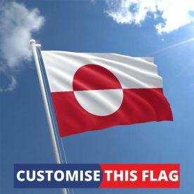 Custom Greenland Flag