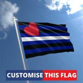 Custom Leather Pride Flag