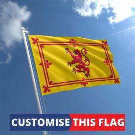 Custom Lion Rampant Flag