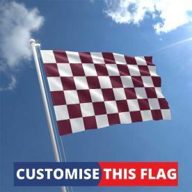Custom Maroon & White Chequered Flag