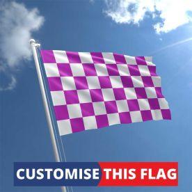 Custom Purple & White Chequered Flag