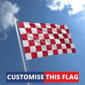 Custom Red & White Chequered Flag