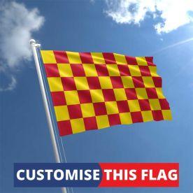 Custom Red & Yellow Chequered Flag