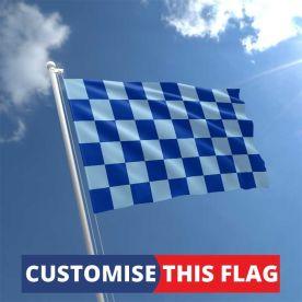 Custom Royal & Sky Blue Chequered Flag