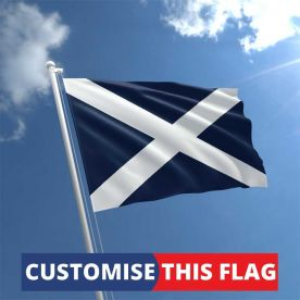 Custom Scotland Flag Navy Blue