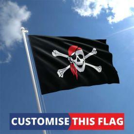 Custom Skull Bandana Flag