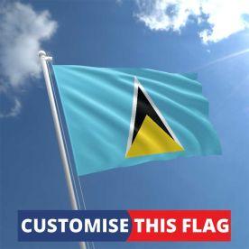 Custom St Lucia Flag