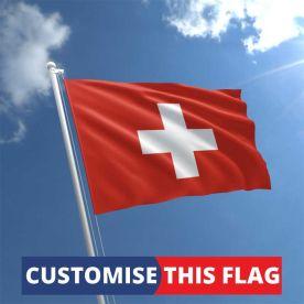 Custom Switzerland Flag