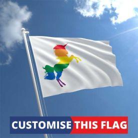 Custom Rainbow Unicorn Flag