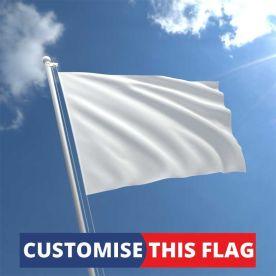 Custom Plain White Flag