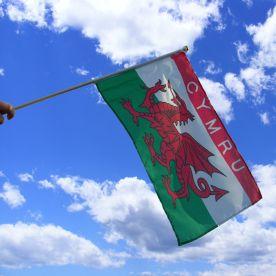 Cymru Hand Waving Flag