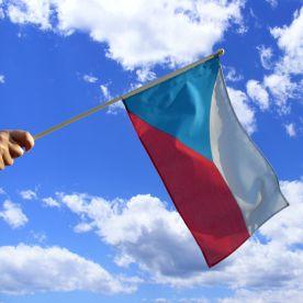 Czech Republic Hand Waving Flag