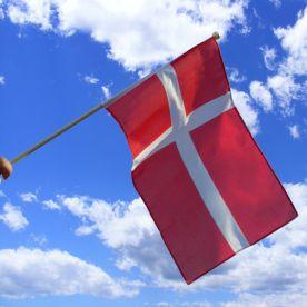 Denmark Hand Waving Flag