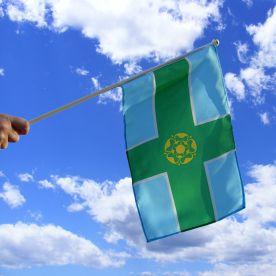 Derbyshire Hand Waving Flag