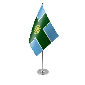 Derbyshire table flag satin