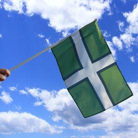 Devon Hand Waving Flag