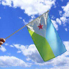 Djibouti Hand Waving Flag