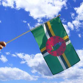 Dominica Hand Waving Flag