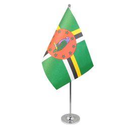 Dominica Table Flag Satin